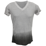 Picture of 06 Ladies Burnout Ombre V-Neck