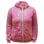 Picture of 14 Ladies Burnout Zip Hoody