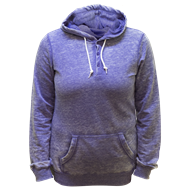 Picture of Ladies Burnout Henley Hoody